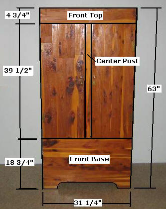 How to Build Wardrobe Armoire Closet Building Plans
