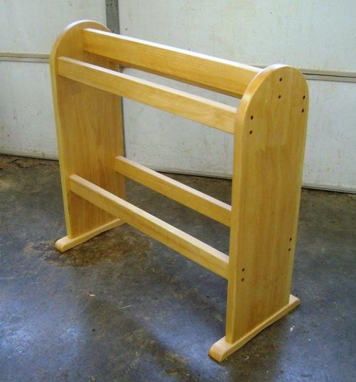 plans for wood quilt rack