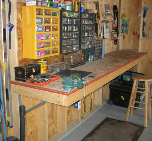 built in garage workbench plans