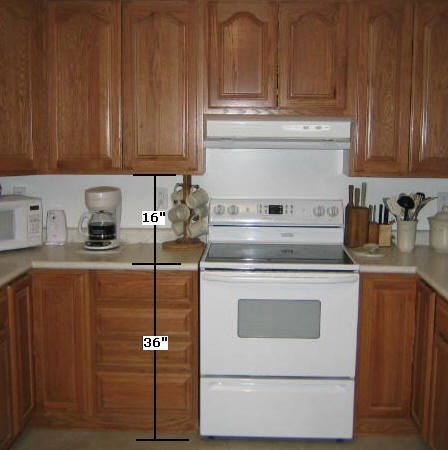 Height of upper cabinets from the floor thefloors co for Kitchen cabinet height from floor